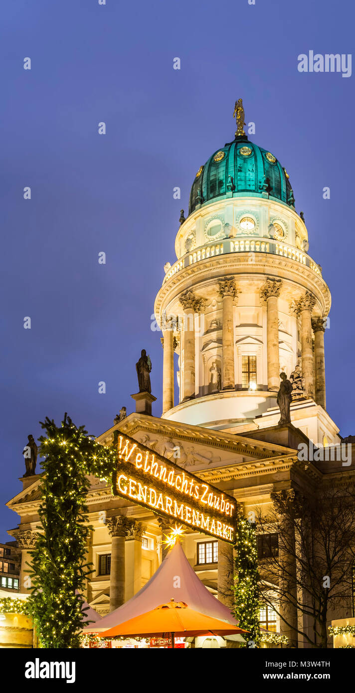Christmas Market at Gendarme Market , French Dome, - Stock Image