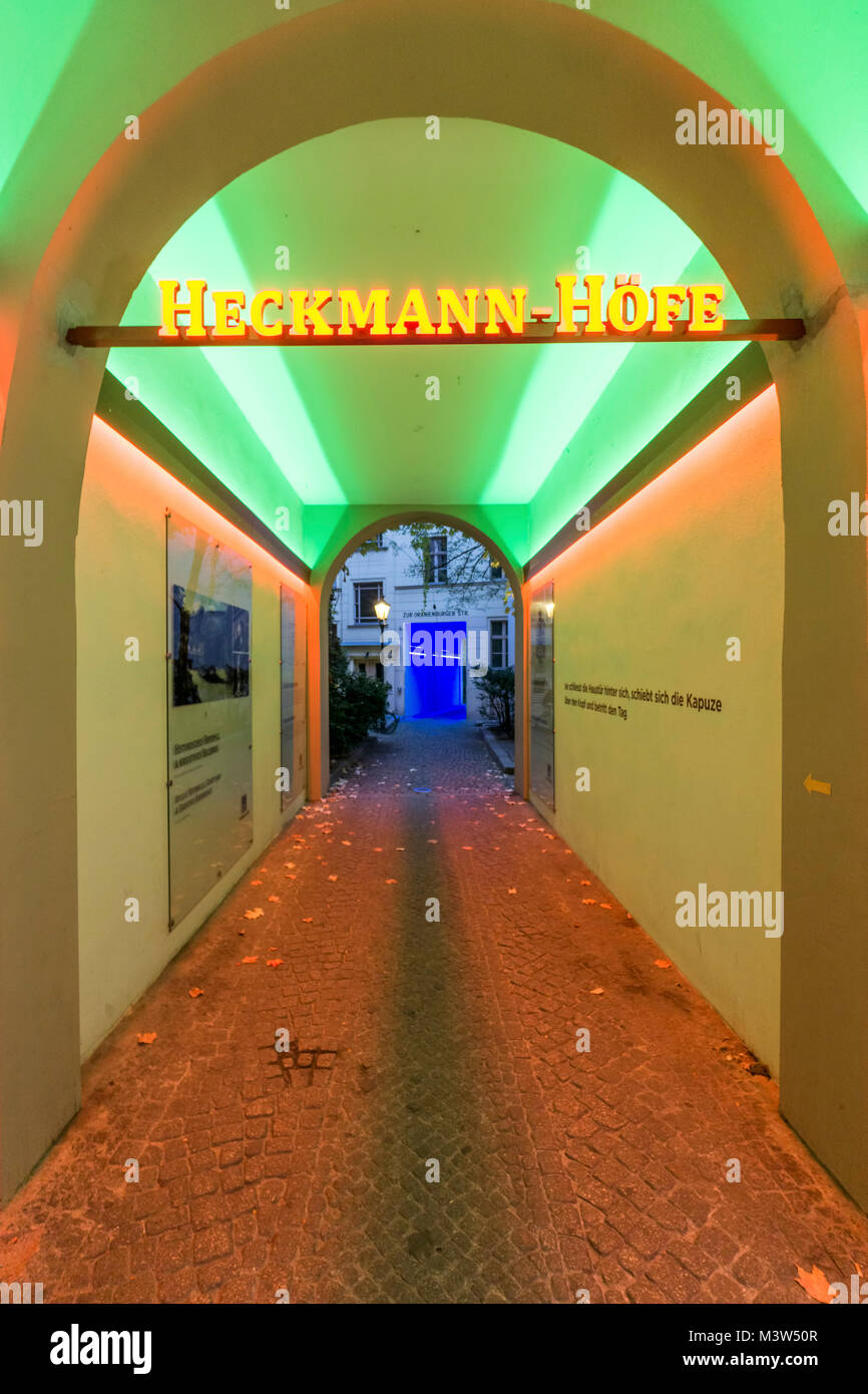 Heckmann courtyards, entrance, Berlin center, germany - Stock Image