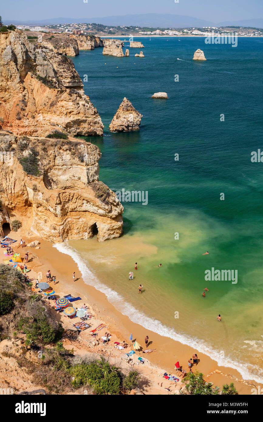 Portugal algarve near Lagos , Praia do Camilo,  Atlantik coast - Stock Image