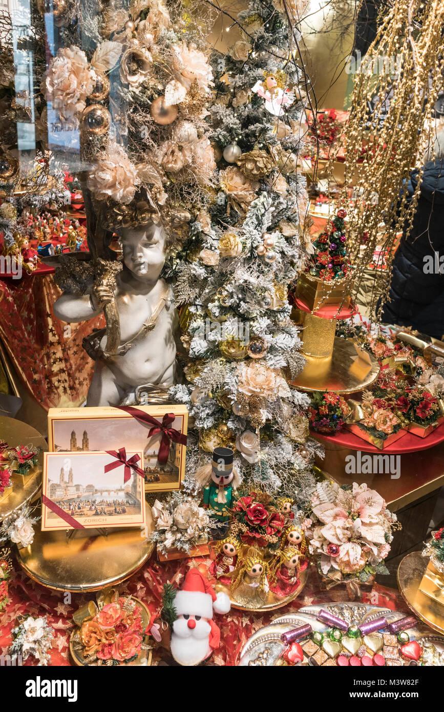 Confiserie Teuscher, shop window, swiss chocolate shop, Zurich, switzerland - Stock Image