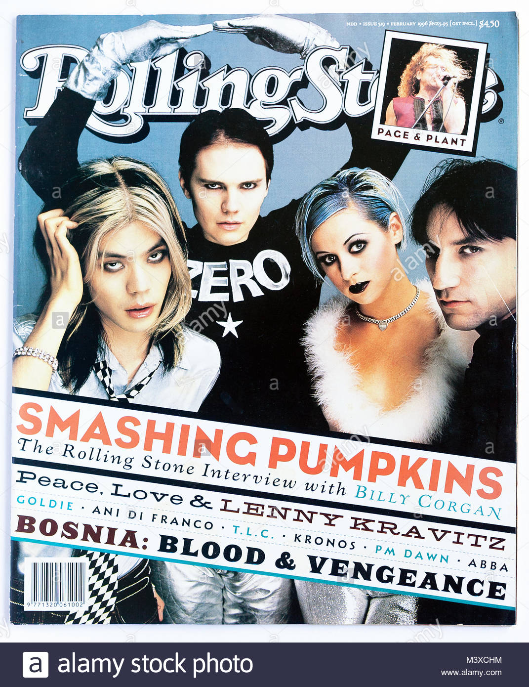 The cover of Rolling Stone magazine, issue 519, Smashing Pumpkins - Stock Image