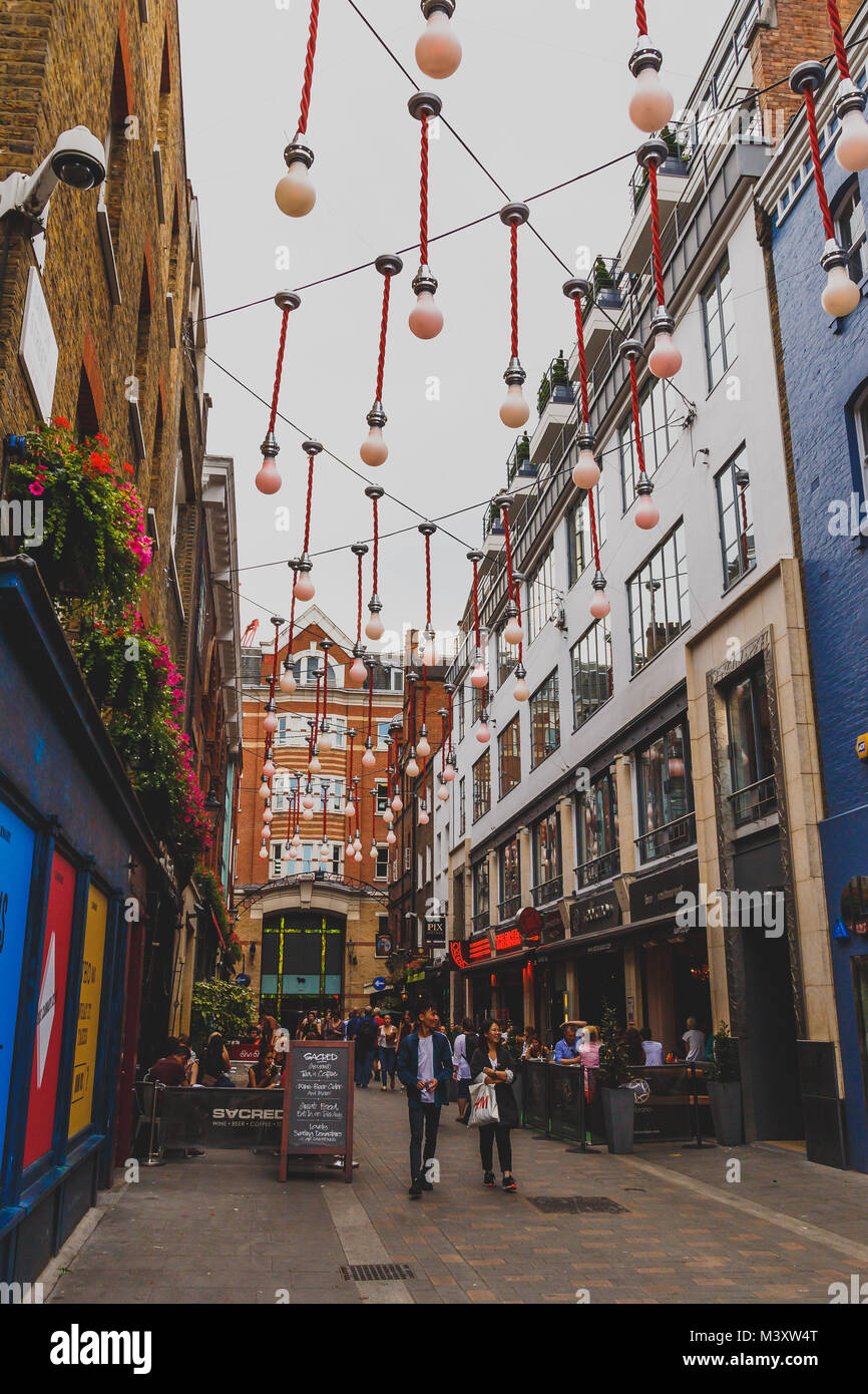 LONDON, UNITED KINGDOM - August, 8th, 2015: detail of Carnaby Street in London city centre - Stock Image