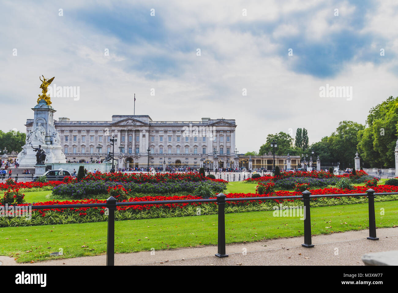 LONDON, UNITED KINGDOM - August, 12th, 2015: view of the exterior of Buckingham Palace - Stock Image