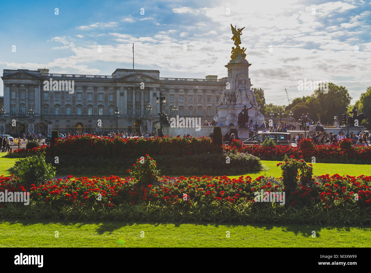 LONDON, UNITED KINGDOM - August, 15th, 2015: view of the exterior of Buckingham Palace - Stock Image