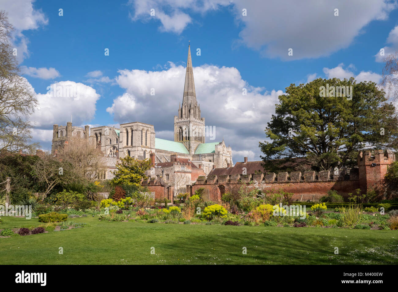 Chichester Cathedral Exterior Stock Photos & Chichester