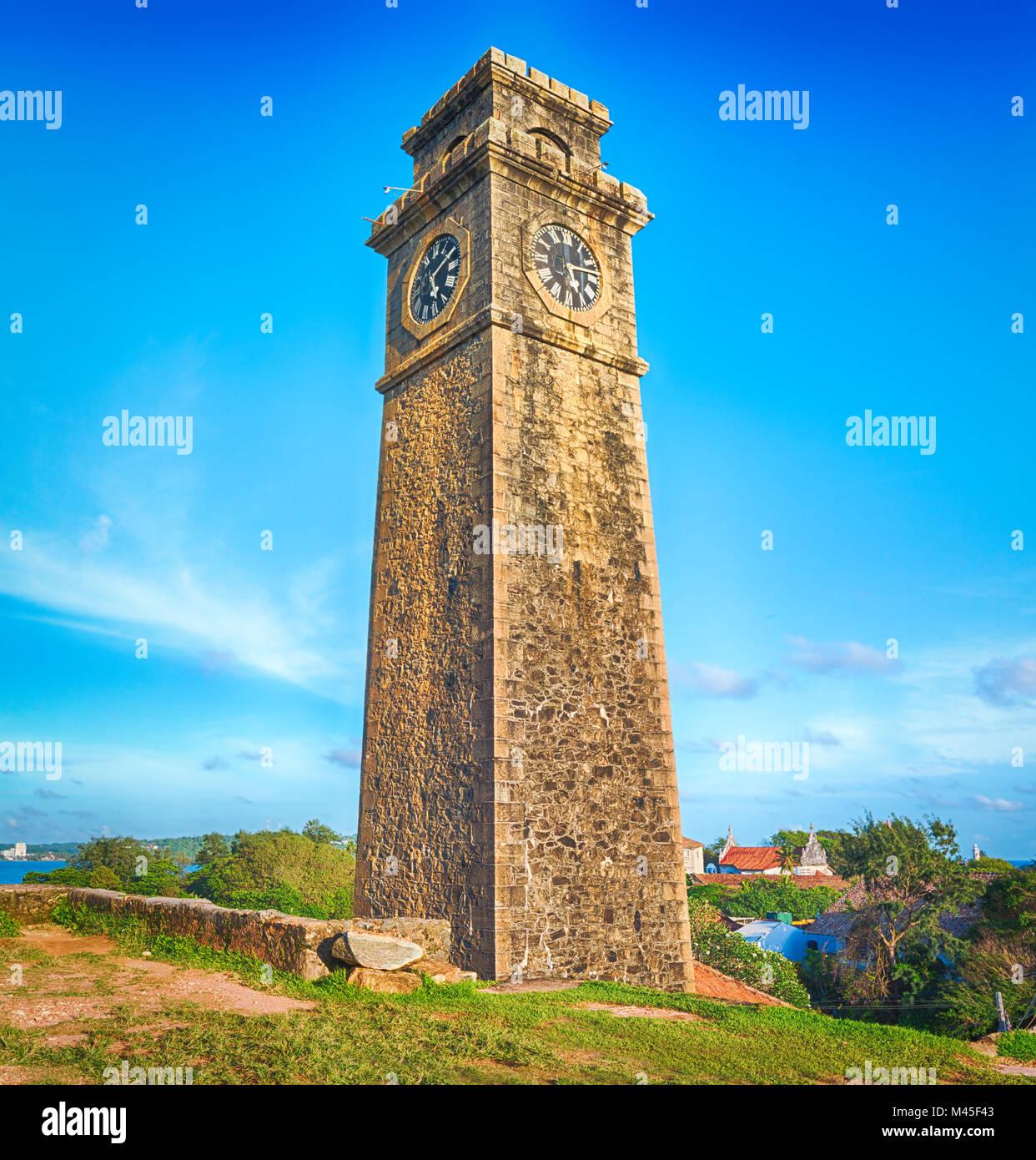 Anthonisz Memorial Clock Tower in Galle, Sri Lanka - Stock Image