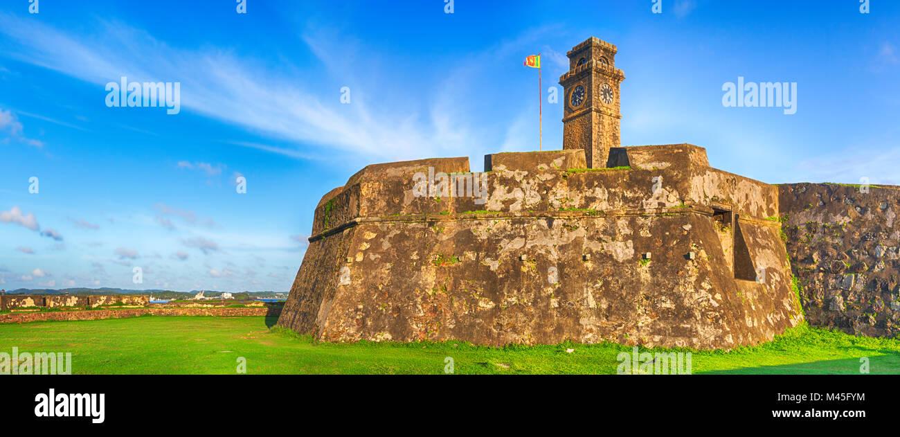 Anthonisz Memorial Clock Tower in Galle. Panorama - Stock Image