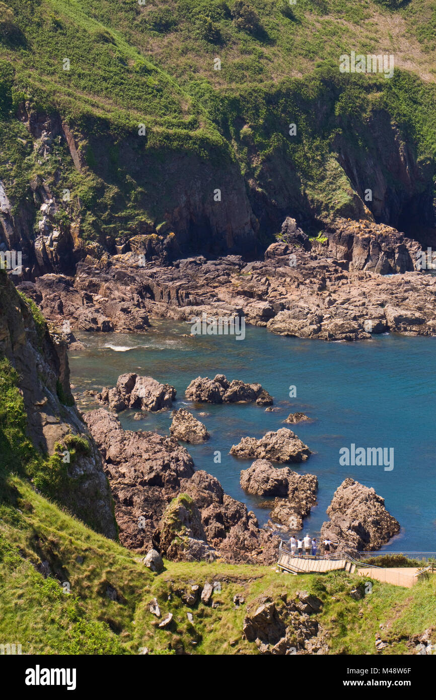 Jersey uk coast walk stock photos jersey uk coast walk for Garden design jersey channel islands