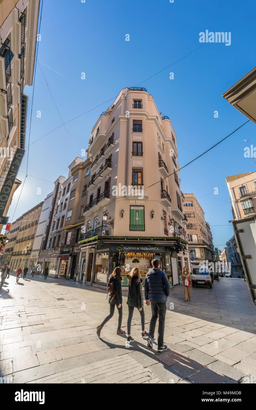 Calle de preciados street central stock photos calle de - H m calle orense madrid ...