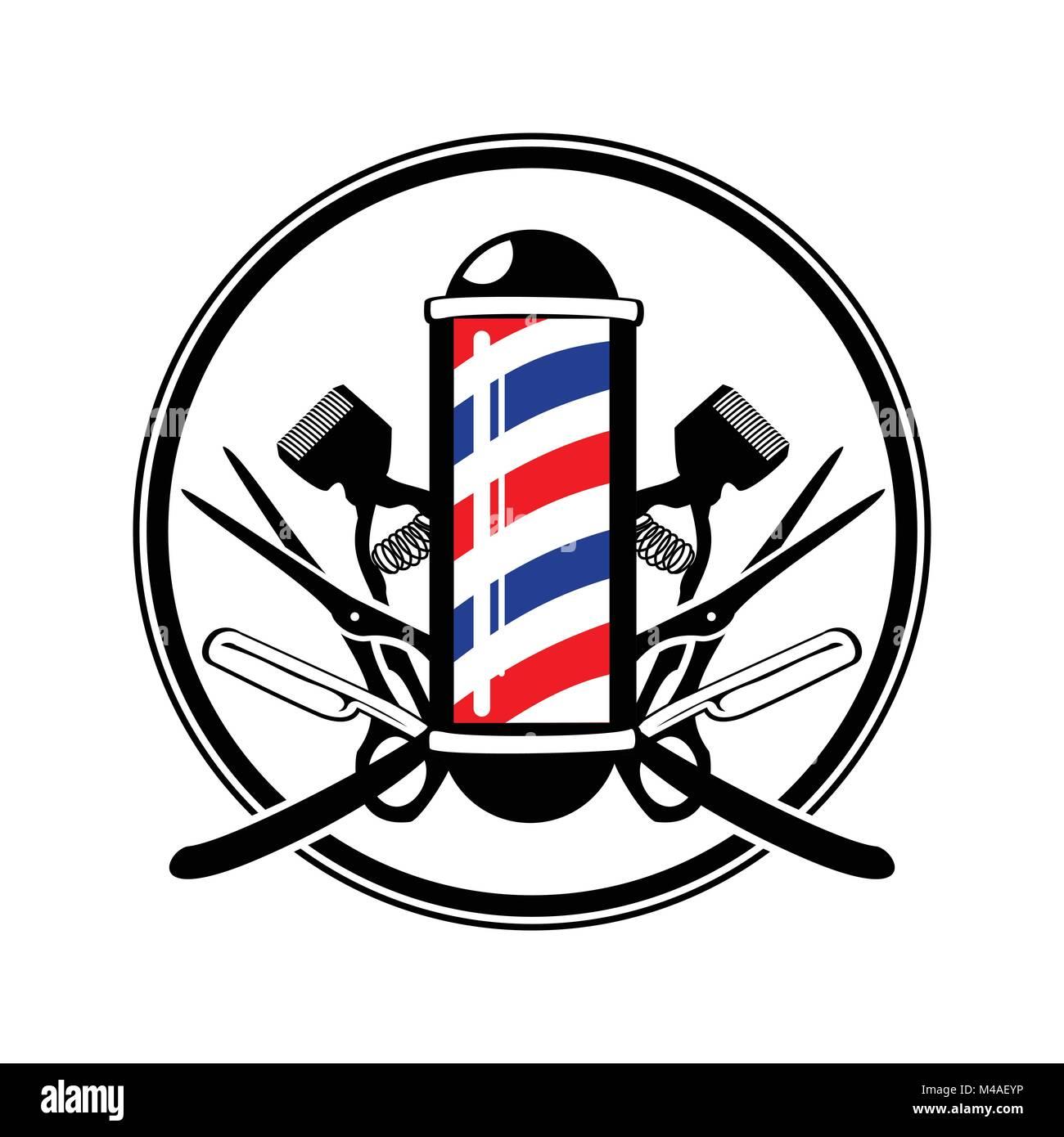 Scissor logo stock photos scissor logo stock images alamy for Simbolo barbiere