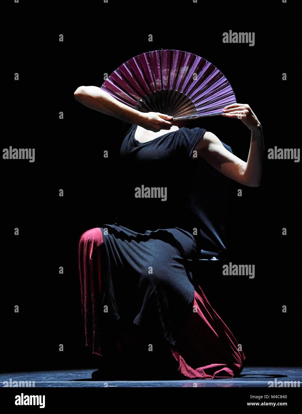 London, UK. 15th Feb, 2018. Maria Pages performs  Yo Carmen as part of the London Flamenco festival at Sadler's - Stock Image