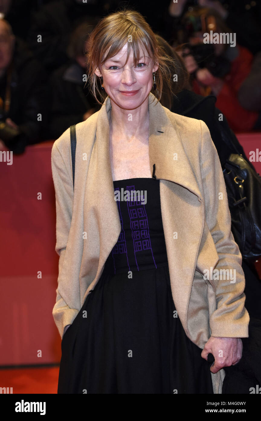 Berlin, Germany. 15th Feb, 2018. Jenny Schily attending the 'Isle Of Dogs' premiere at the 68th Berlin International - Stock Image