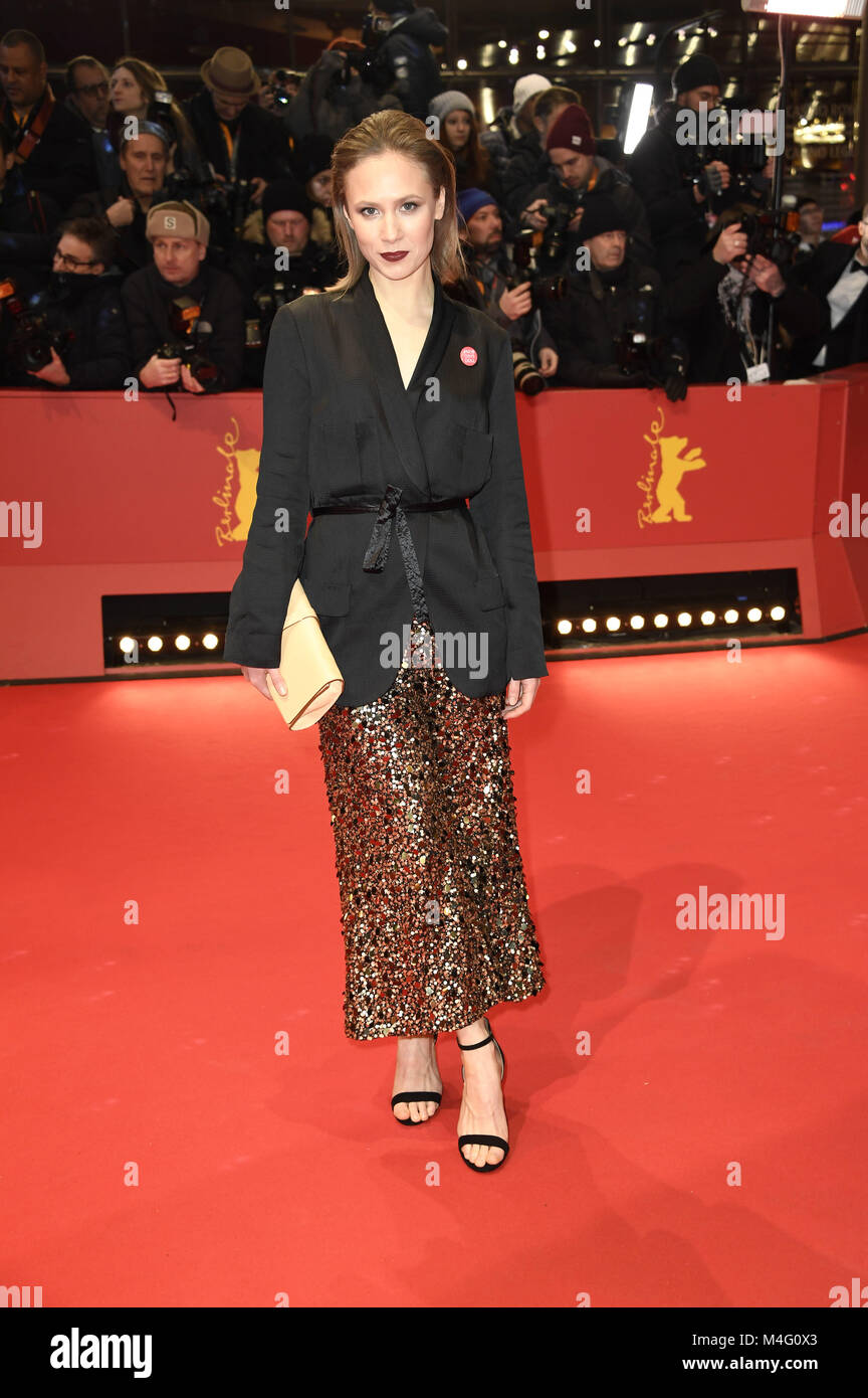 Berlin, Germany. 15th Feb, 2018. Alina Levshin attending the 'Isle Of Dogs' premiere at the 68th Berlin - Stock Image