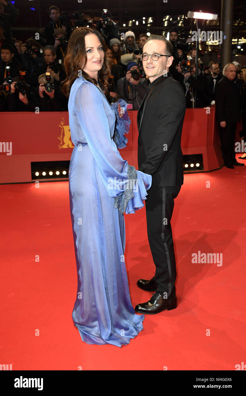 Berlin, Germany. 15th Feb, 2018. Natalia Wörner and Heiko Maas attending the 'Isle Of Dogs' premiere - Stock Image