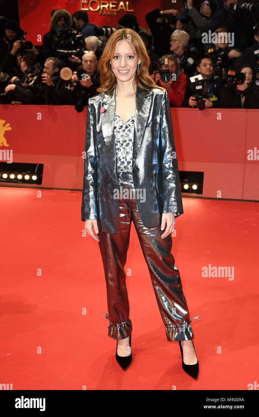 Berlin, Germany. 15th Feb, 2018. Lavinia Wilson attending the 'Isle Of Dogs' premiere at the 68th Berlin - Stock Image