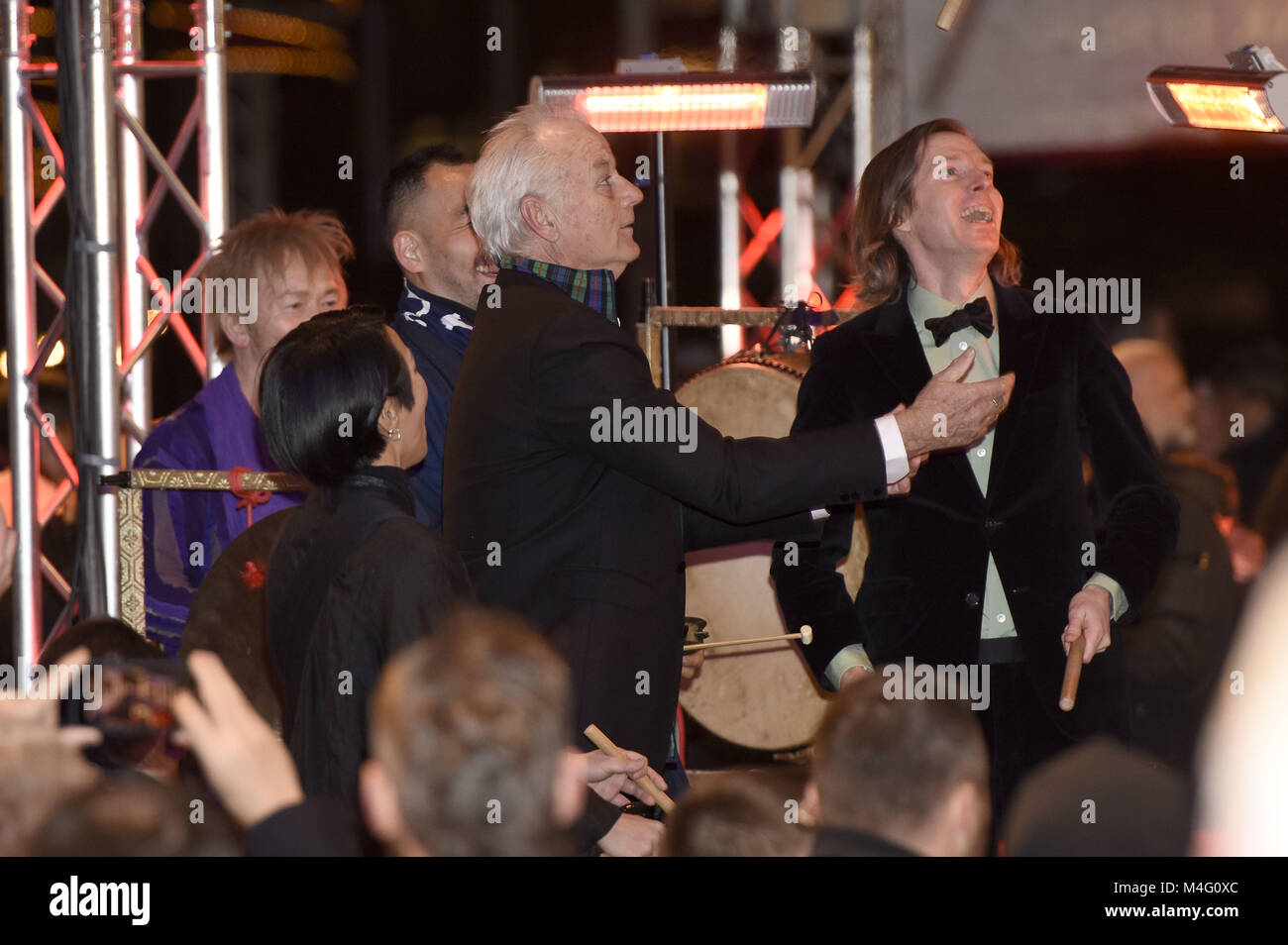 Berlin, Germany. 15th Feb, 2018. Bill Murray and Wes Anderson attending the 'Isle Of Dogs' premiere at the - Stock Image