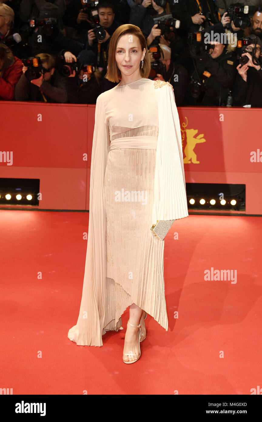 Berlin, Germany. 15th Feb, 2018. Katharina Schüttler attending the 'Isle Of Dogs' premiere at the 68th - Stock Image
