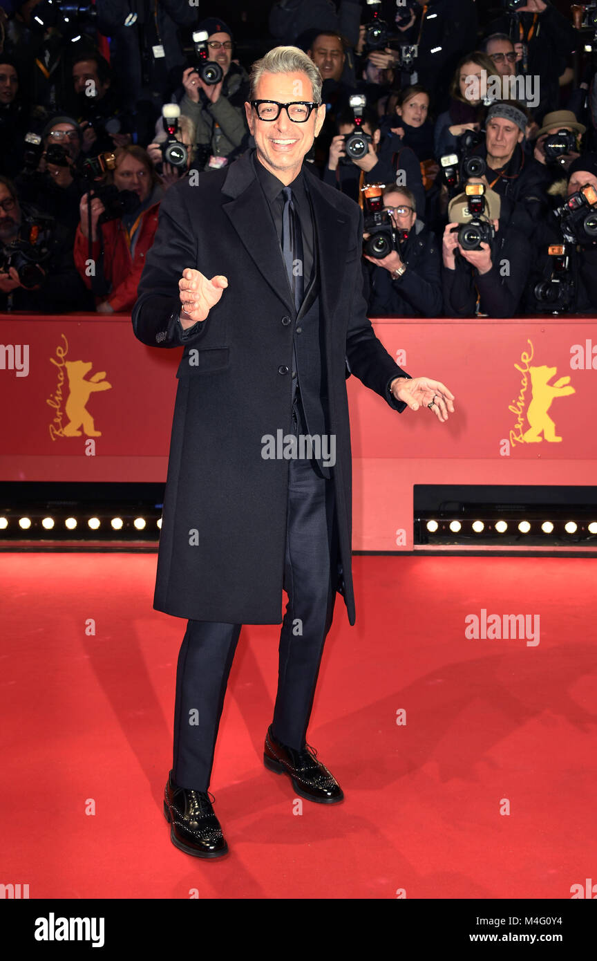Berlin, Germany. 15th Feb, 2018. Jeff Goldblum attending the 'Isle Of Dogs' premiere at the 68th Berlin - Stock Image