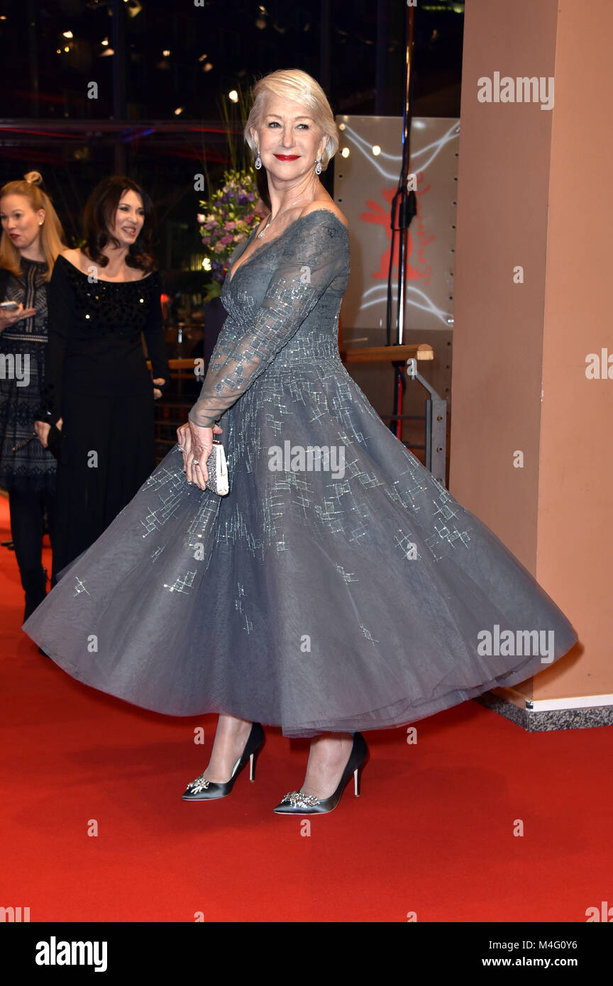Berlin, Germany. 15th Feb, 2018. Helen Mirren attending the 'Isle Of Dogs' premiere at the 68th Berlin International - Stock Image