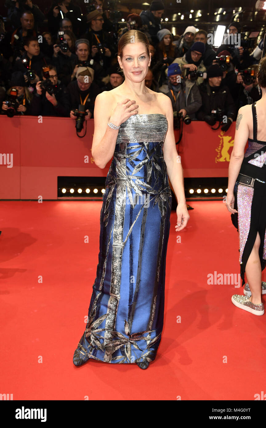 Berlin, Germany. 15th Feb, 2018. Marie Bäumer attending the 'Isle Of Dogs' premiere at the 68th Berlin - Stock Image