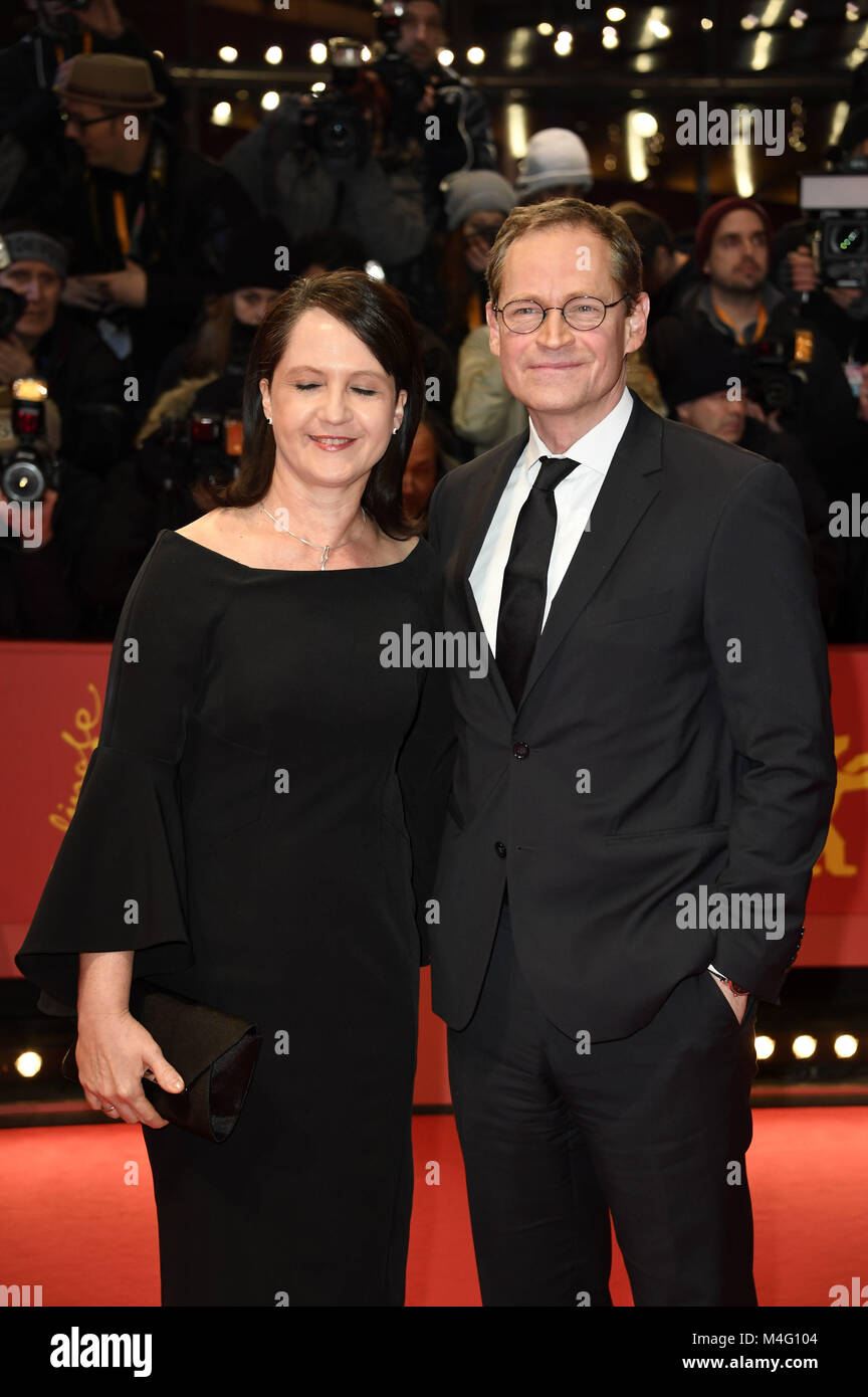 Berlin, Germany. 15th Feb, 2018. Michael Müller and his wife Claudia Müller attending the 'Isle Of - Stock Image