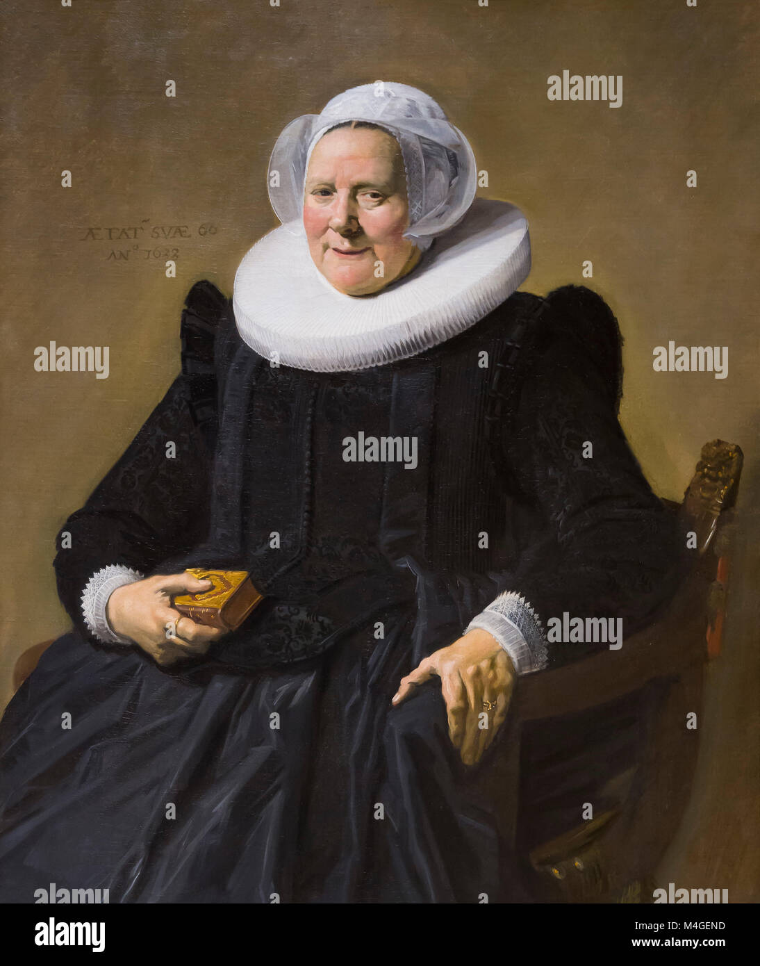 Portrait of an Elderly Lady, Frans Hals, 1633, National Gallery of Art, Washington DC, USA, North America - Stock Image