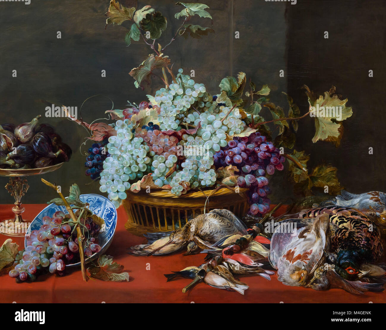 Still Life with Grapes and Game, Frans Snyders, circa 1630, National Gallery of Art, Washington DC, USA, North America - Stock Image