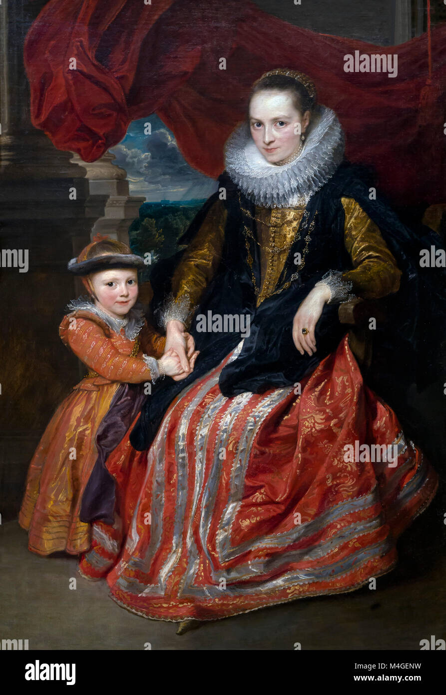 Susanna Fourment and Her Daughter, Sir Anthony van Dyck, 1621, National Gallery of Art, Washington DC, USA, North - Stock Image