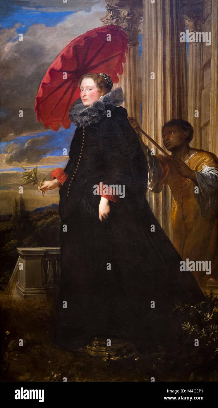 Marchesa Elena Grimaldi Cattaneo, Sir Anthony van Dyck,  1623, National Gallery of Art, Washington DC, USA, North - Stock Image