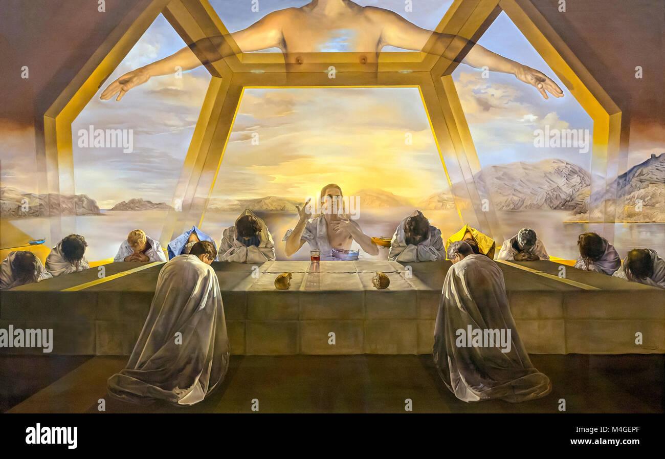 The Sacrament of the Last Supper, Salvador Dali, 1955, National Gallery of Art, Washington DC, USA, North America - Stock Image