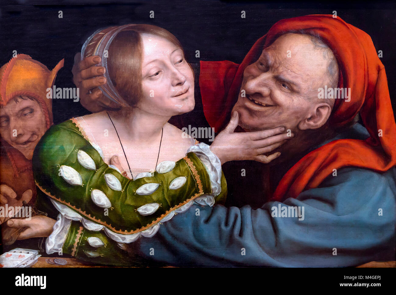 Ill-Matched Lovers, Quentin Massys, circa 1520-1525, National Gallery of Art, Washington DC, USA, North America - Stock Image