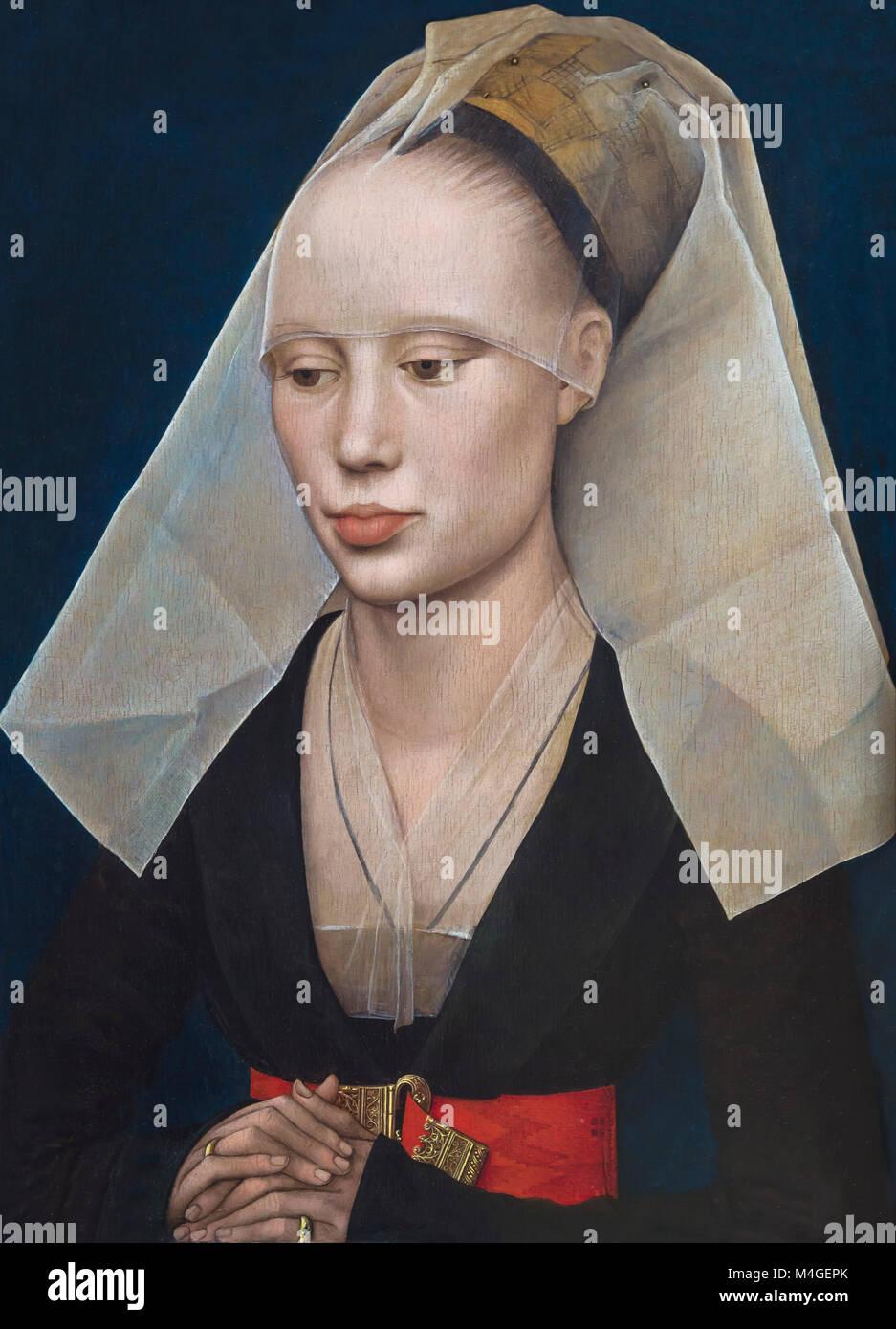 Portrait of a Lady, Rogier van der Weyden, circa 1460, National Gallery of Art, Washington DC, USA, North America - Stock Image