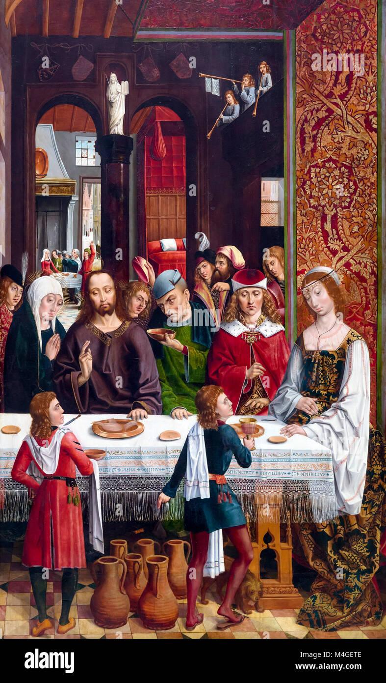 The Marriage at Cana, Master of the Catholic Kings, circa 1495, National Gallery of Art, Washington DC, USA, North - Stock Image