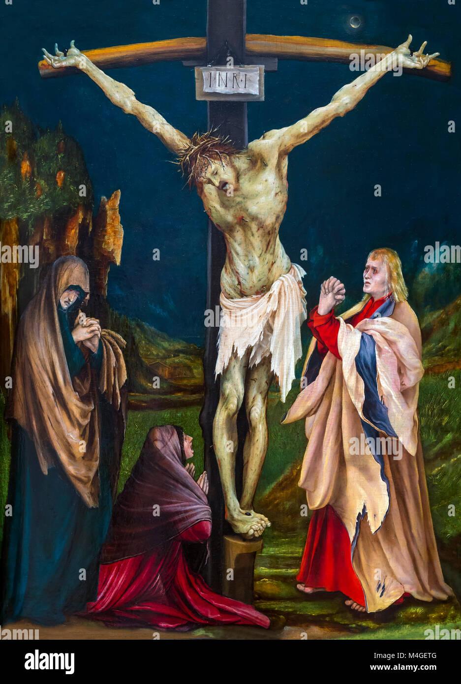 The Small Crucifixion, Matthias Grunewald, circa 1510-1520, National Gallery of Art, Washington DC, USA, North America - Stock Image