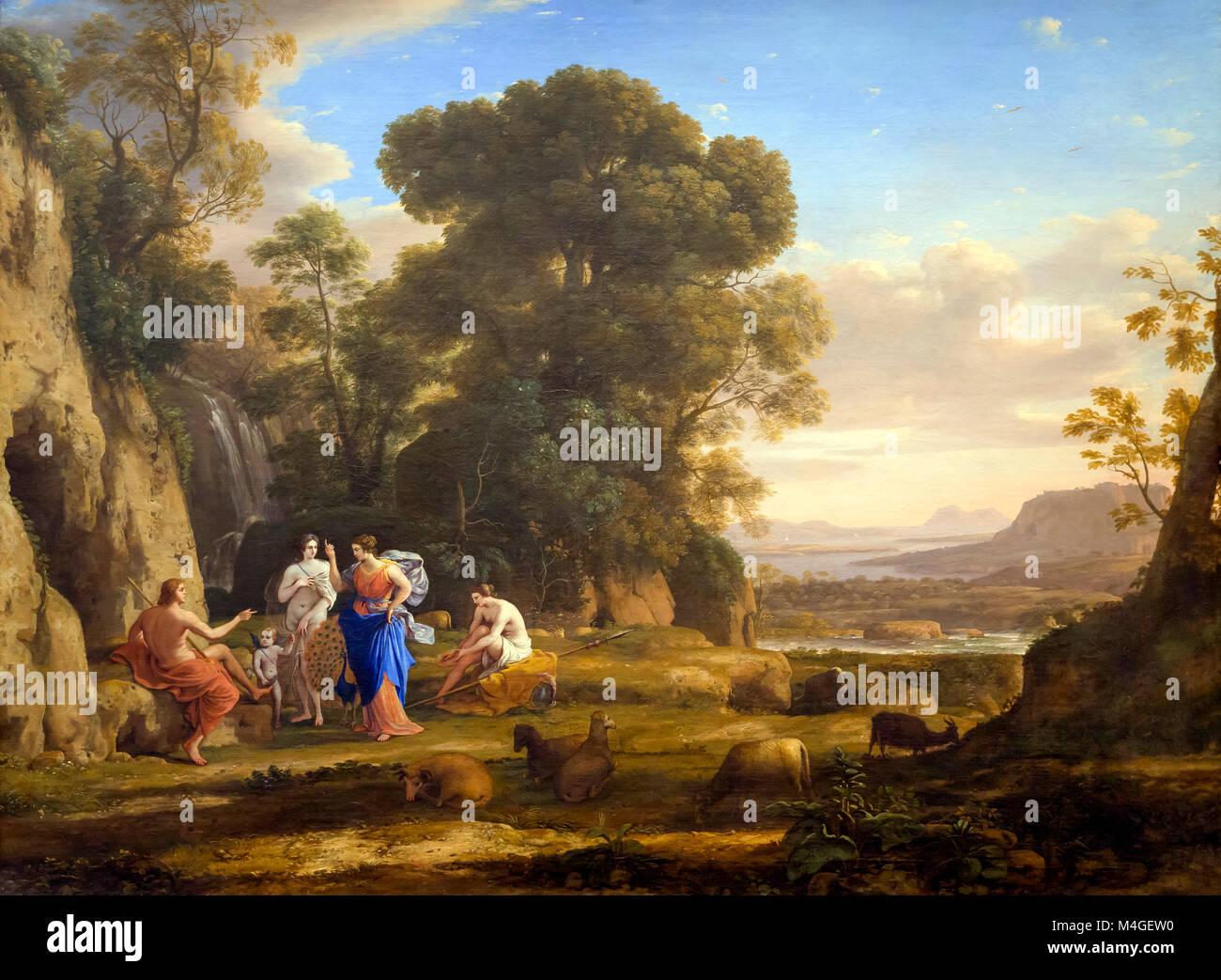 The Judgement of Paris, Claude Lorrain, 1645-1646, National Gallery of Art, Washington DC, USA, North America - Stock Image