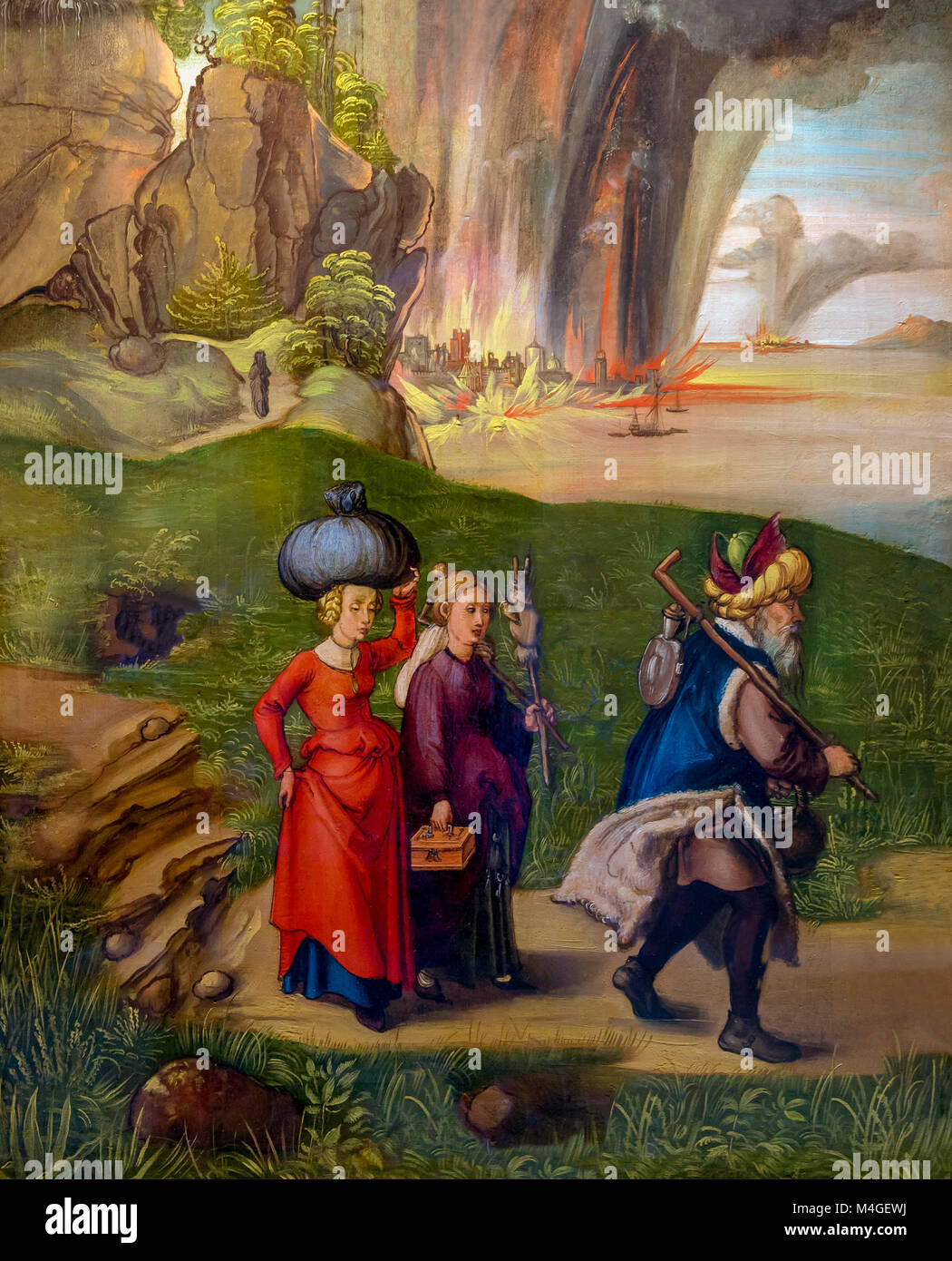 Lot and His Daughters, Albrecht Durer, circa 1496-1499, National Gallery of Art, Washington DC, USA, North America - Stock Image
