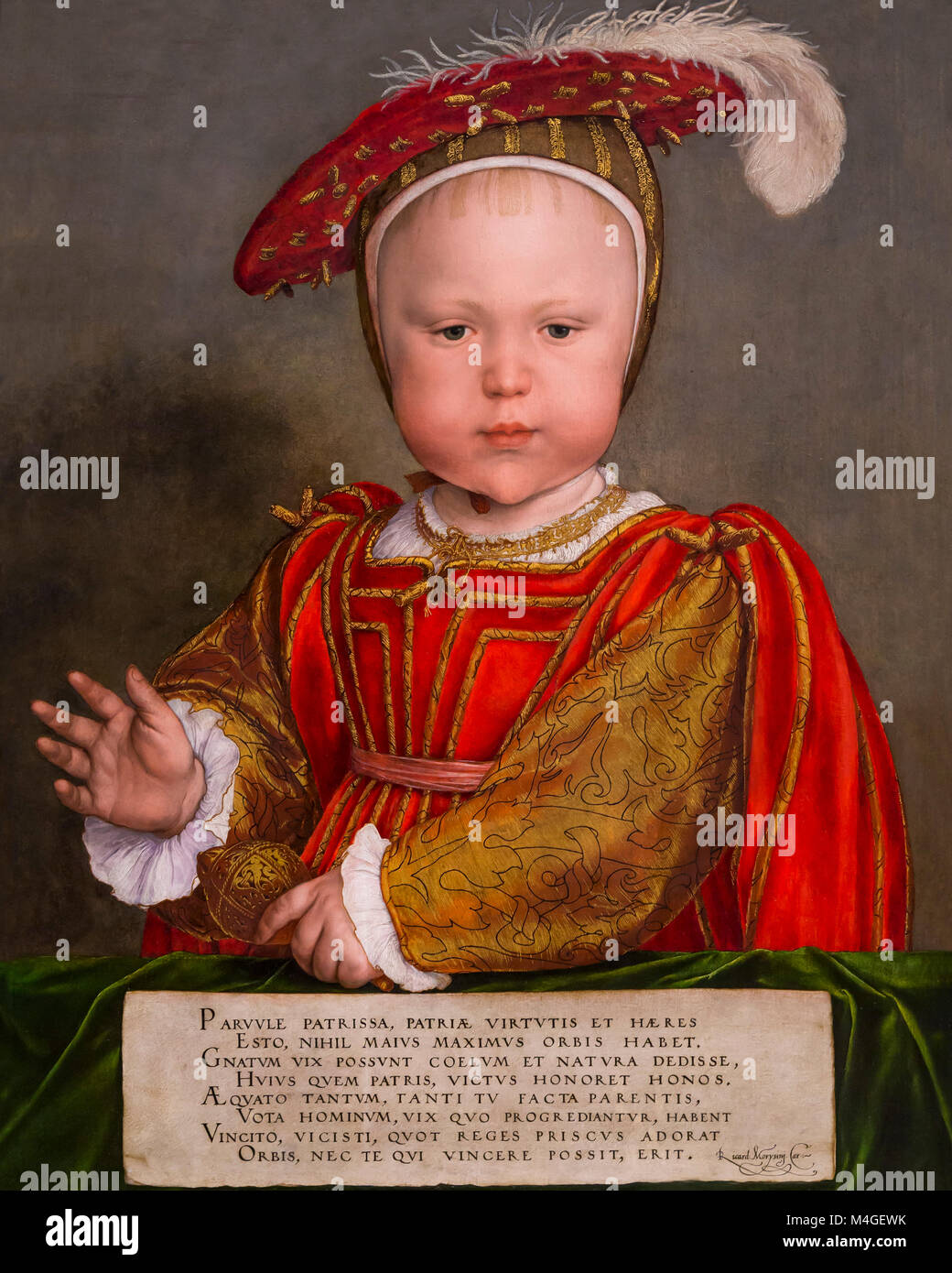 Edward VI as a Child, Hans Holbein the Younger, circa 1538, National Gallery of Art, Washington DC, USA, North America - Stock Image
