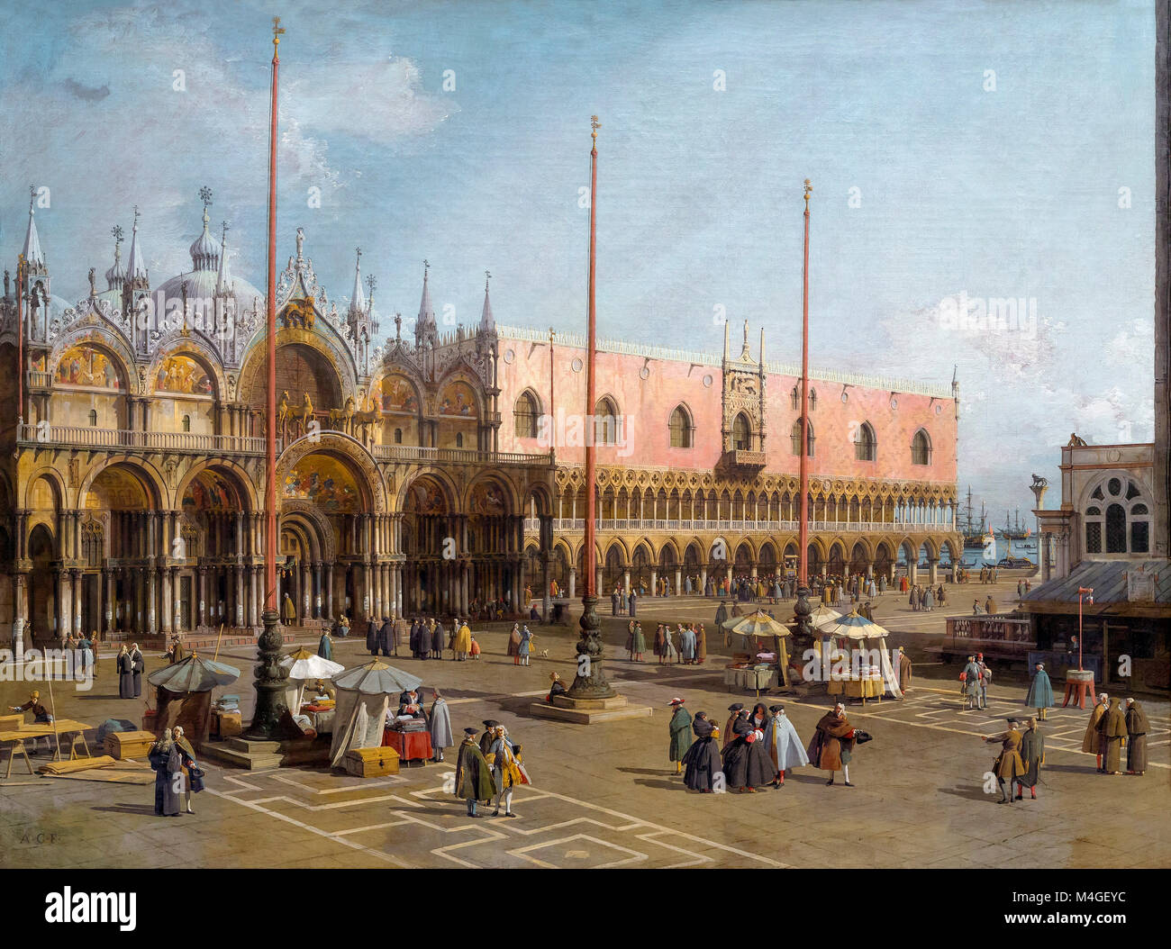 The Square of Saint Mark's, Venice, Canaletto, 1742-1744, National Gallery of Art, Washington DC, USA, North - Stock Image