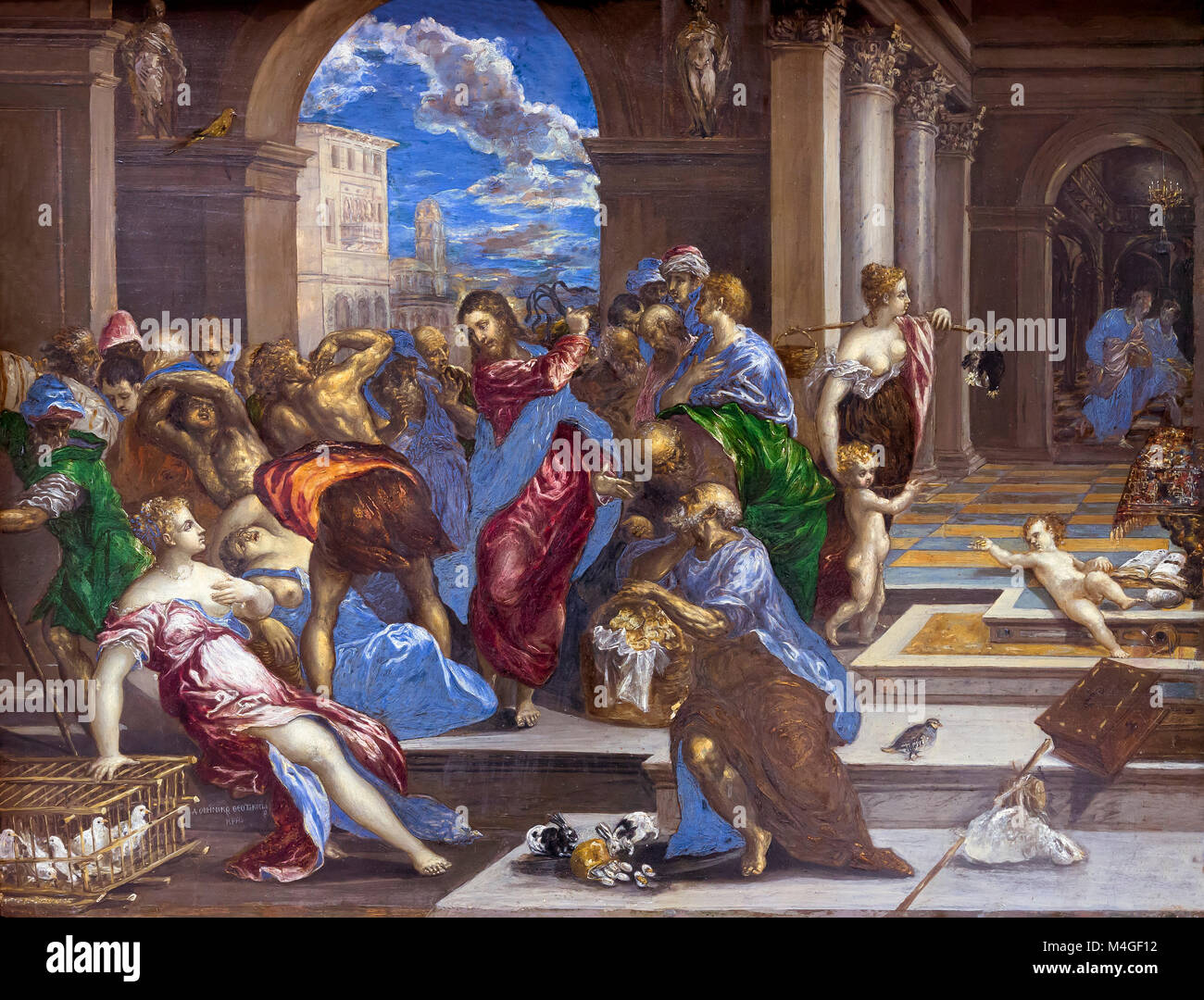 Christ Cleansing the Temple, El Greco, circa 1570, National Gallery of Art, Washington DC, USA, North America - Stock Image