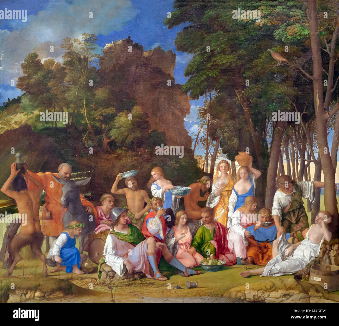 The Feast of the Gods, Giovanni Bellini and Titian, 1514-1529, National Gallery of Art, Washington DC, USA, North - Stock Image