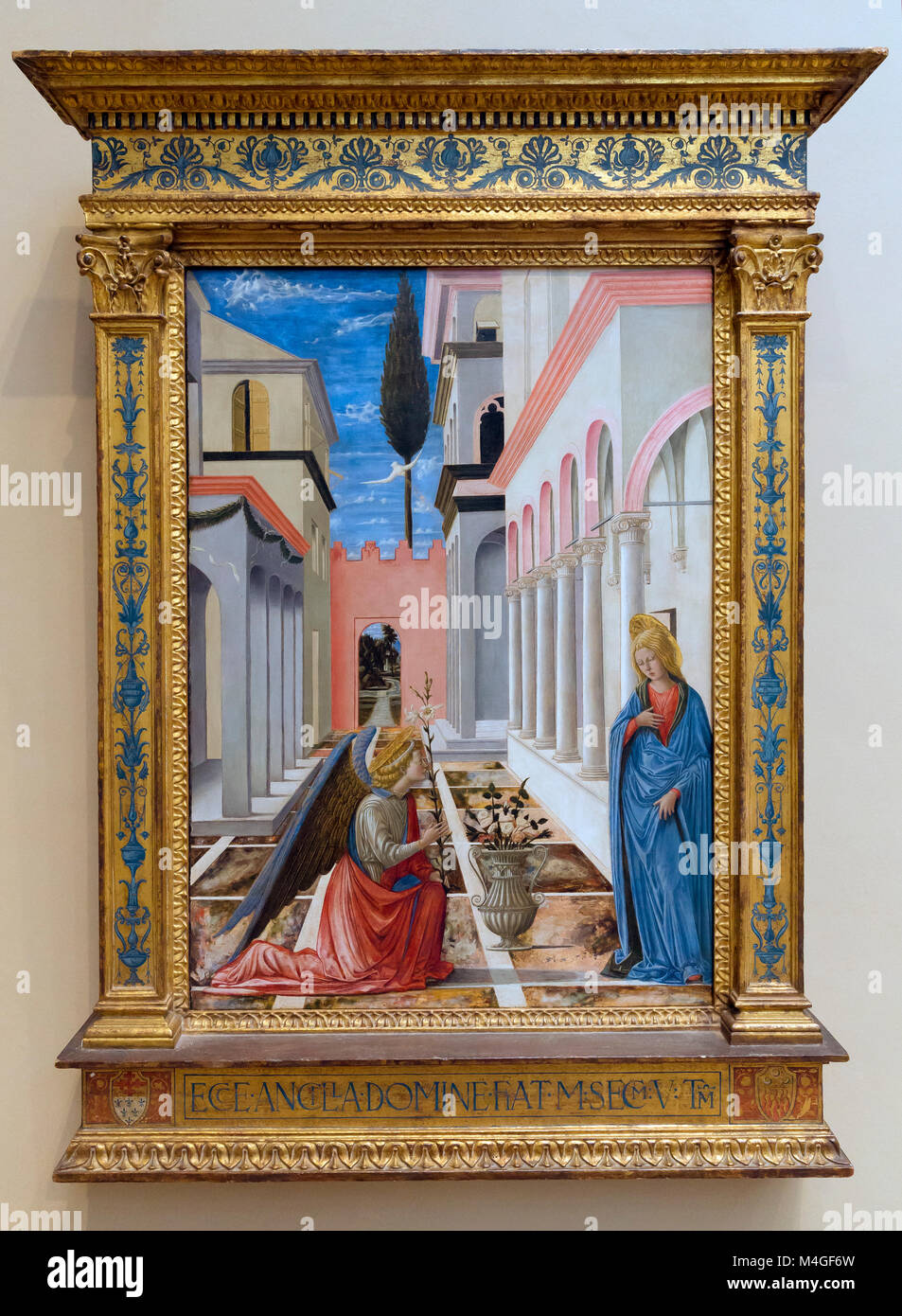 The Annunciation, Fra Carnevale, circa 1445-1450, National Gallery of Art, Washington DC, USA, North America - Stock Image