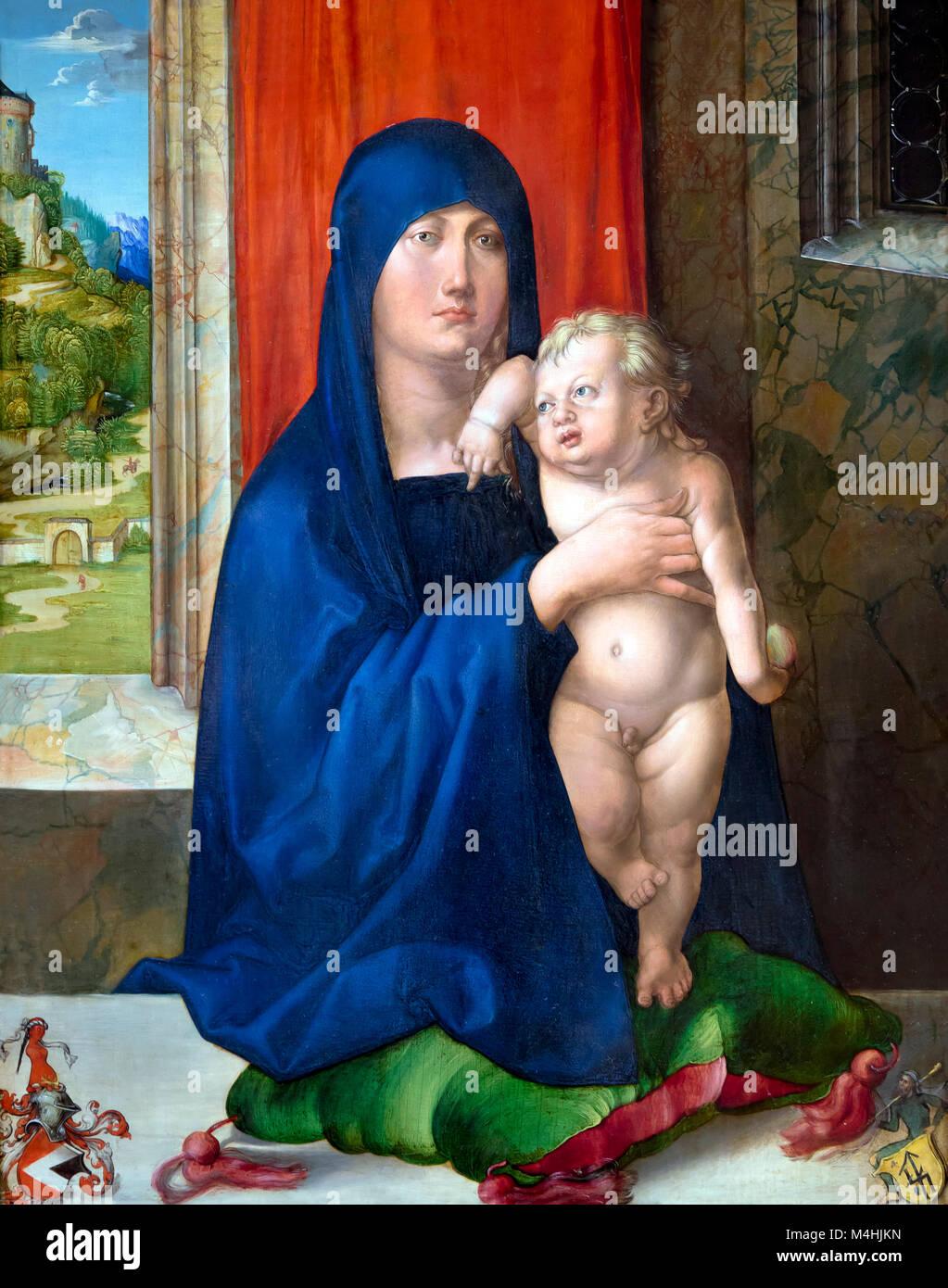 Madonna and Child, Albrecht Durer, circa 1496-1499, National Gallery of Art, Washington DC, USA, North America - Stock Image