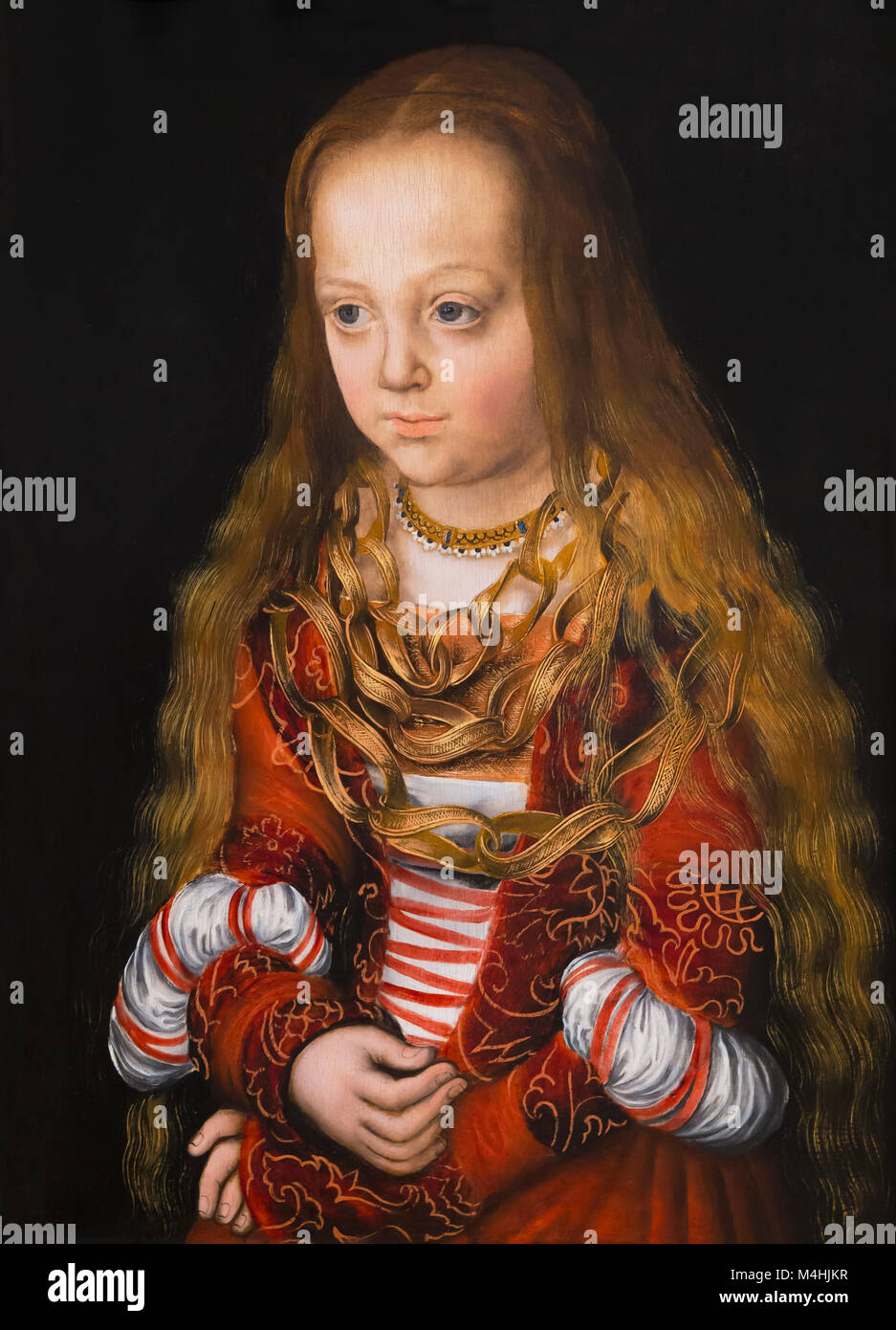 A Princess of Saxony, Lucas Cranach the Elder, circa 1516, National Gallery of Art, Washington DC, USA, North America - Stock Image