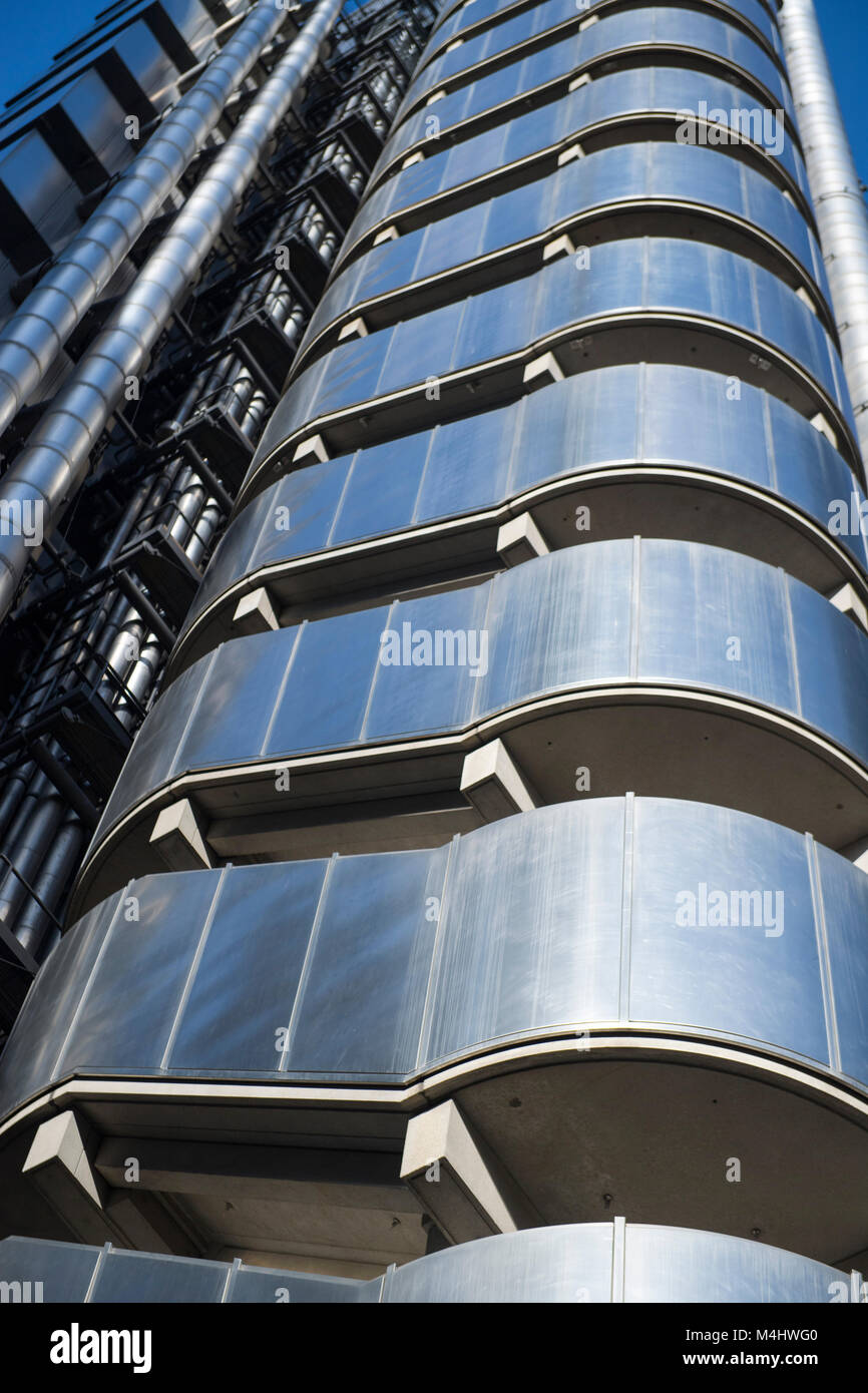 The Lloyds Building in the City of London financial district, London, England, UK - Stock Image