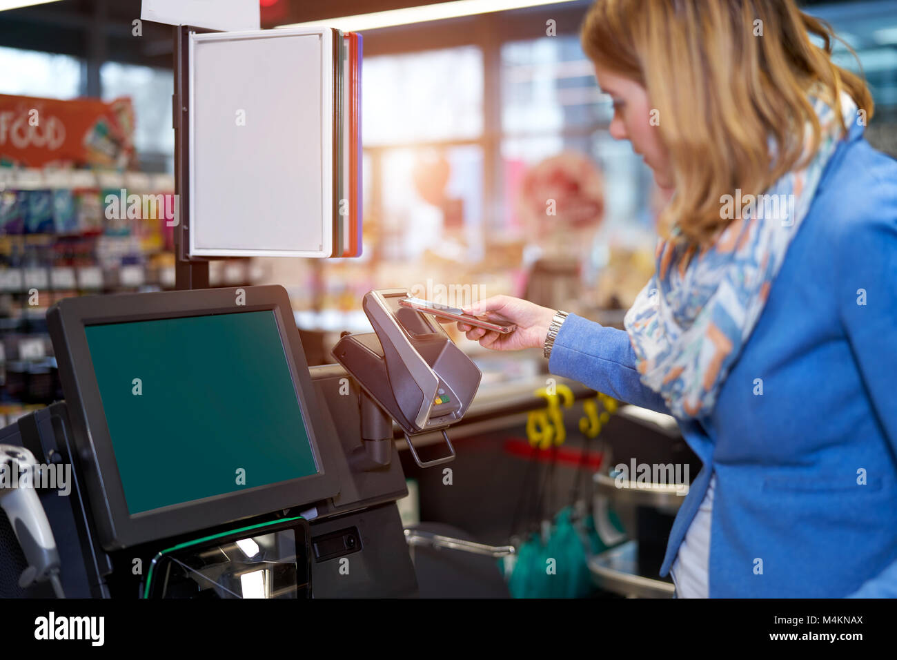 Self Checkout Grocery Store Stock Photos & Self Checkout ...