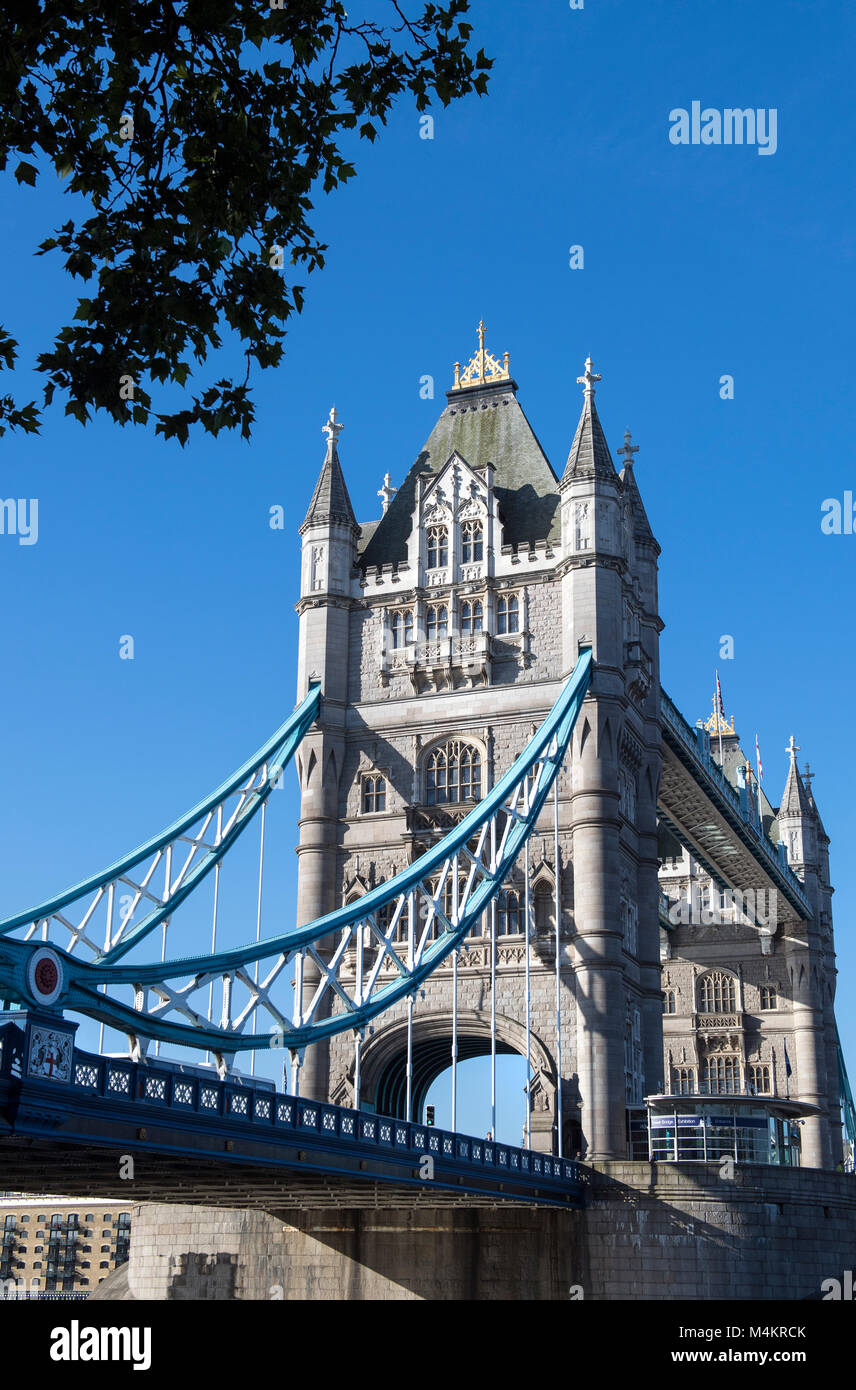 View of Tower Bridge in London, England, UK - Stock Image