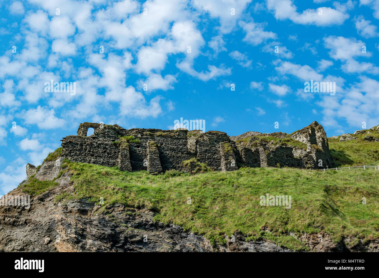 tintagel castle in cornwall, england, britain, uk. - Stock Image