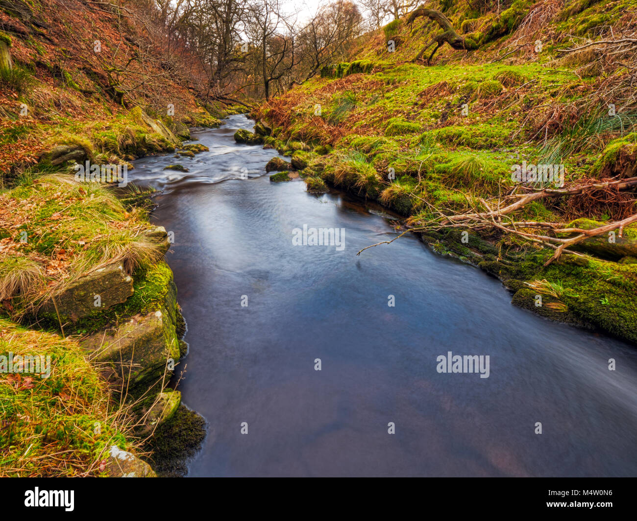 Goyt Valley, one of the most beautiful areas of the Peak District National Park lying between Buxton and Whaley - Stock Image