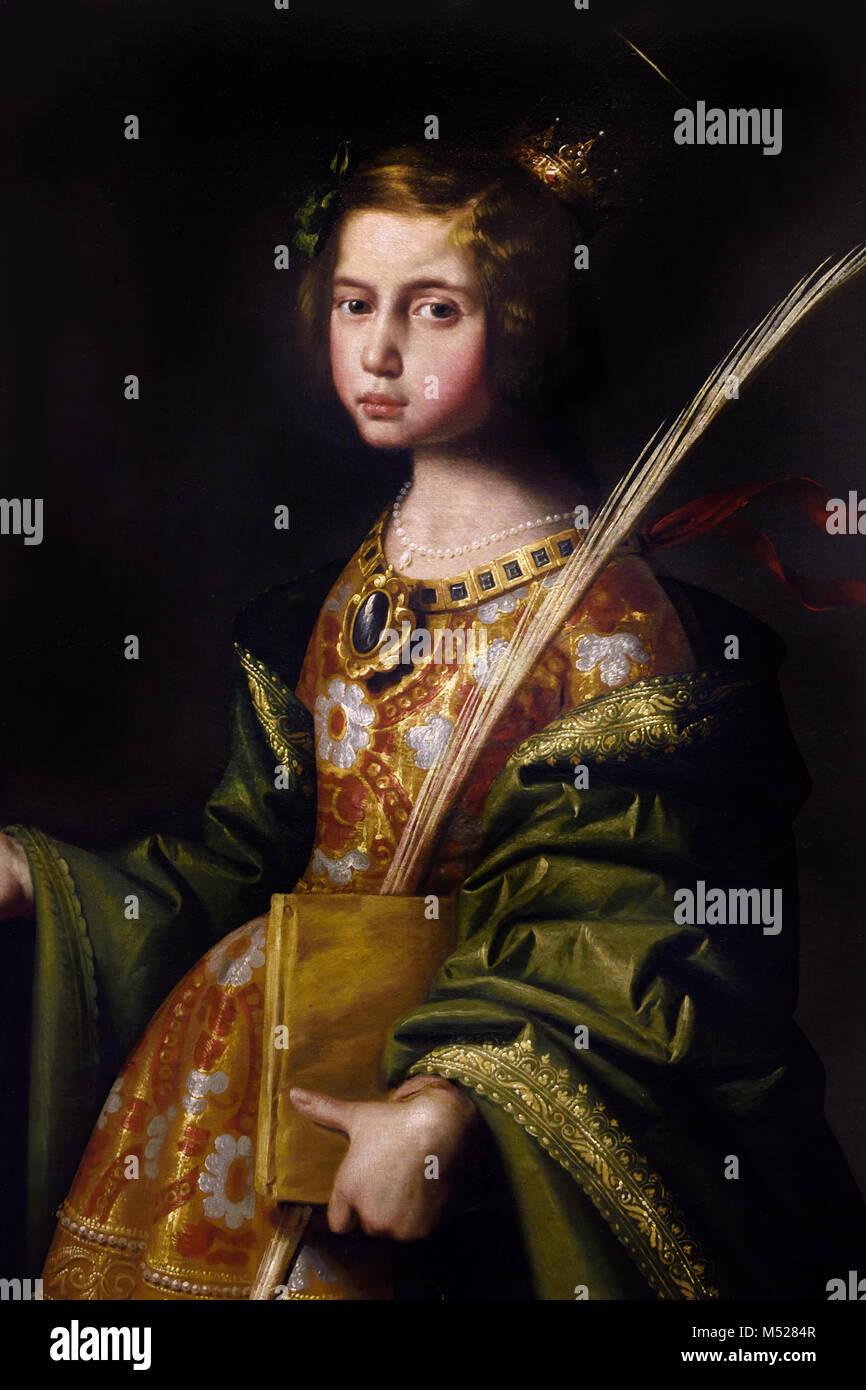 Saint Elizabeth of Thuringia 1635 Francisco de Zurbarán (1598–1664) 17th, century, Spain, Spanish,(Saint Elizabeth - Stock Image