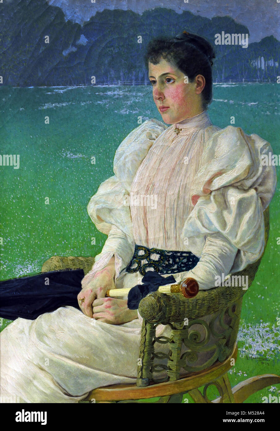 Portrait of a Lady 1894 Anselmo Guinea 1855-1906 20th, century, Spain, Spanish, - Stock Image